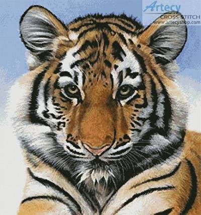 cross stitch pattern Little Big Cat