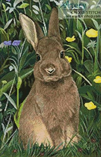 cross stitch pattern Rabbit Painting