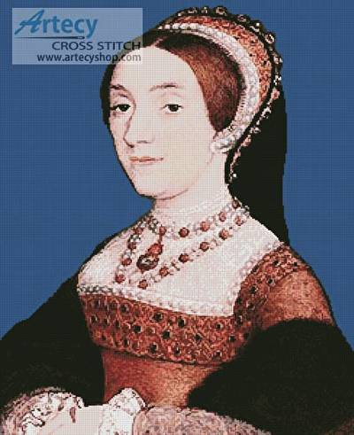cross stitch pattern Katherine Howard
