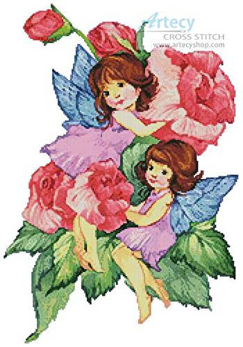 cross stitch pattern Flower Fairies 1