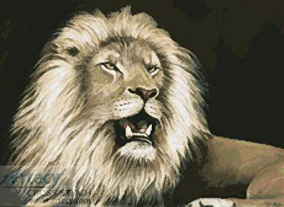 cross stitch pattern Lion 5