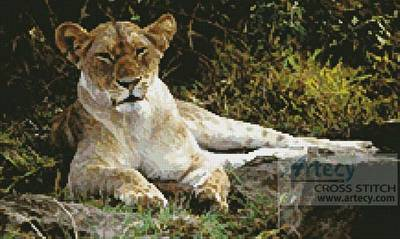 cross stitch pattern Lioness 3