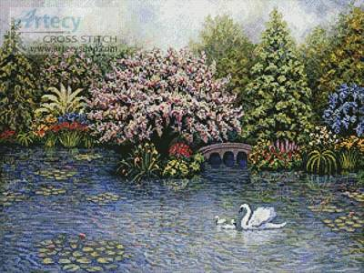 cross stitch pattern Swan Lake