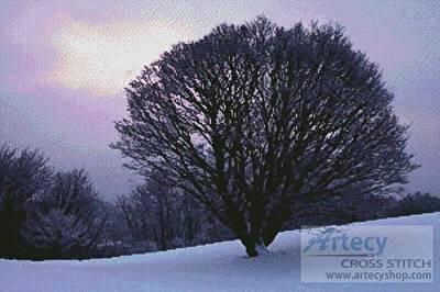 cross stitch pattern Maple Tree