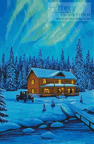 cross stitch pattern Aurora