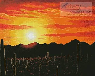 cross stitch pattern Arizona Sunset