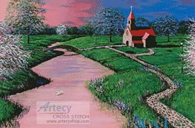 cross stitch pattern Brookside Church