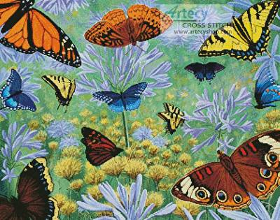 cross stitch pattern Butterfly Bonanza