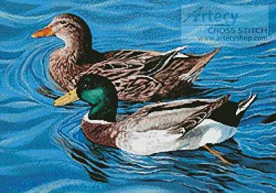 cross stitch pattern Mallards