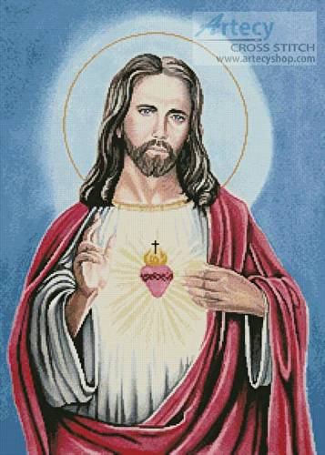 cross stitch pattern Sacred Heart of Jesus 2
