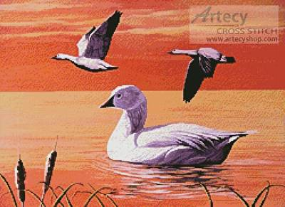 cross stitch pattern Snow Geese