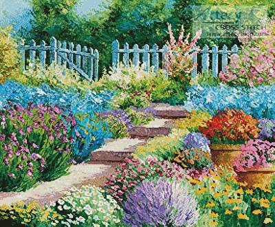 cross stitch pattern Flowers of the Garden