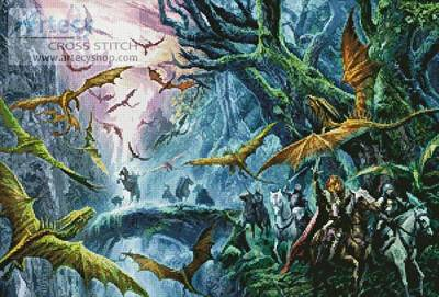 cross stitch pattern The Forest Swarm