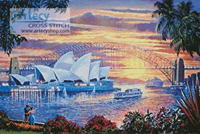 cross stitch pattern Sydney Opera House