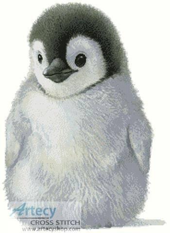 cross stitch pattern Penguin Chick