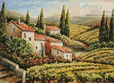 cross stitch pattern Provence Vineyard