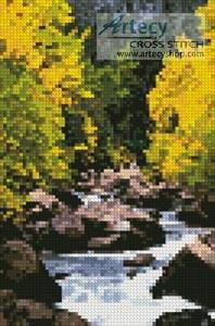 cross stitch pattern Mini Carson River