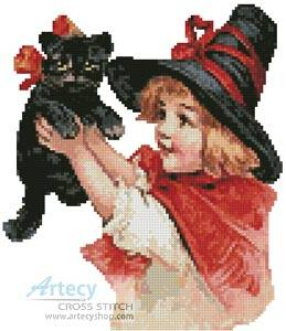 cross stitch pattern Mini Halloween 1