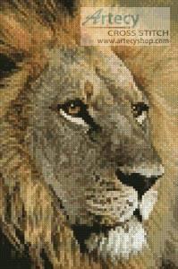 cross stitch pattern Mini Lions Gaze