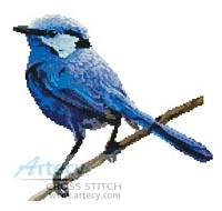 cross stitch pattern Male Splendid Fairy Wren