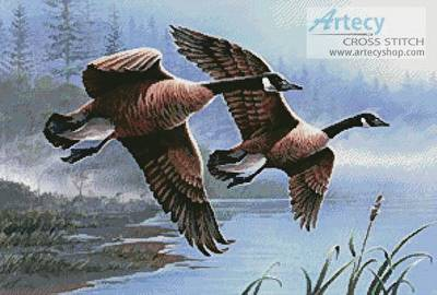 cross stitch pattern Geese on the Wing