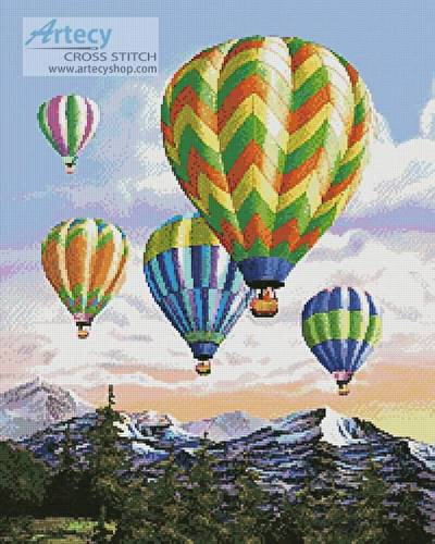 cross stitch pattern Hot Air Balloons 2