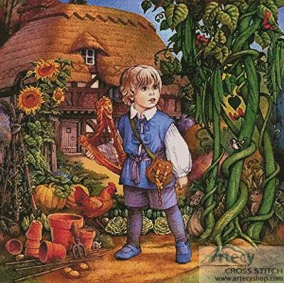 cross stitch pattern Jack and The Beanstalk