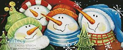 cross stitch pattern Merry Folks Greeting You