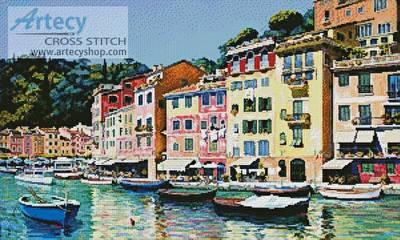 cross stitch pattern Portofino