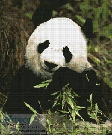 cross stitch pattern Panda 2