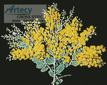 cross stitch pattern Queensland Silver Wattle