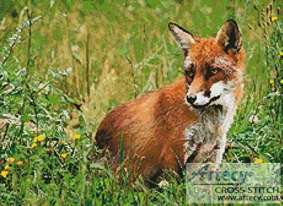 cross stitch pattern Red Fox