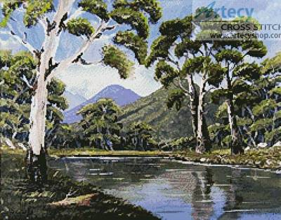 cross stitch pattern Bush Creek
