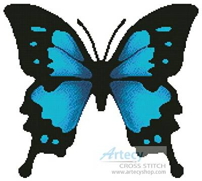 cross stitch pattern Butterfly Design 2