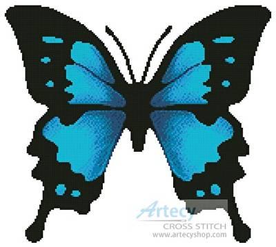 cross stitch pattern Butterfly Design 2