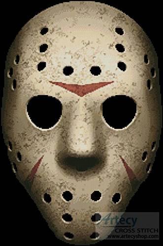 cross stitch pattern Scary Hockey Mask