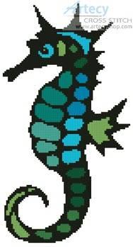 cross stitch pattern Seahorse Design 1