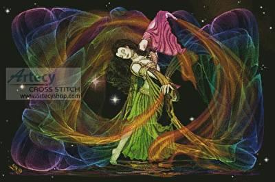 cross stitch pattern Cosmic Dancer