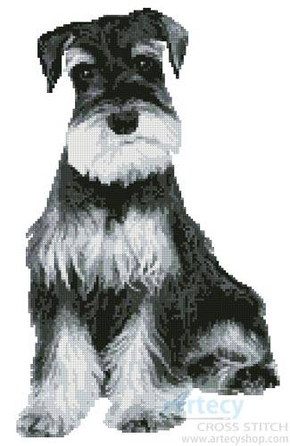 cross stitch pattern Silver Schnauzer