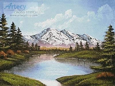 cross stitch pattern Serenity Lake