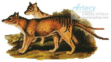 cross stitch pattern Tasmanian Tiger