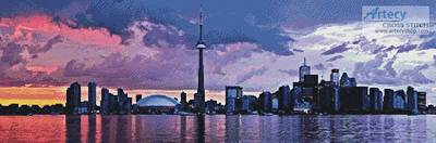 cross stitch pattern Toronto Panorama
