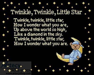 cross stitch pattern Twinkle Twinkle