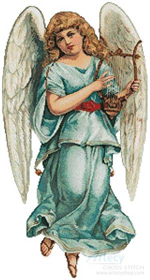 cross stitch pattern Angel 2