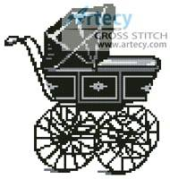 cross stitch pattern Antique Pram