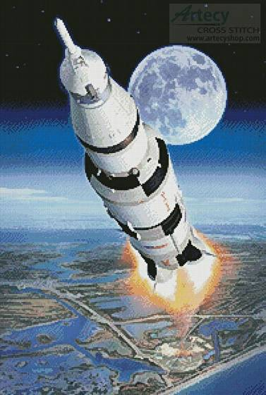 cross stitch pattern Apollo 11