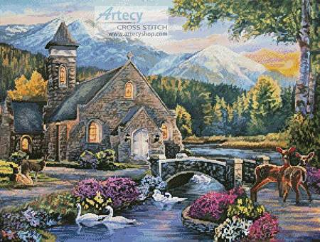 cross stitch pattern Beside still Waters