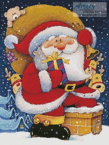 cross stitch pattern Christmas Deliveries