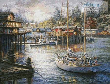 cross stitch pattern Harbor