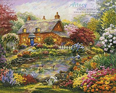 cross stitch pattern Summer Cottage